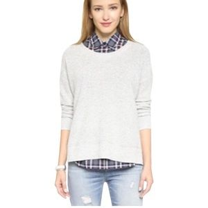 Madewell Heather Gray 'Ariel' High Low Pullover